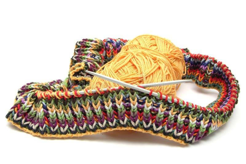 χρωματισμένο πλέξιμο πολ&upsilo στοκ φωτογραφία