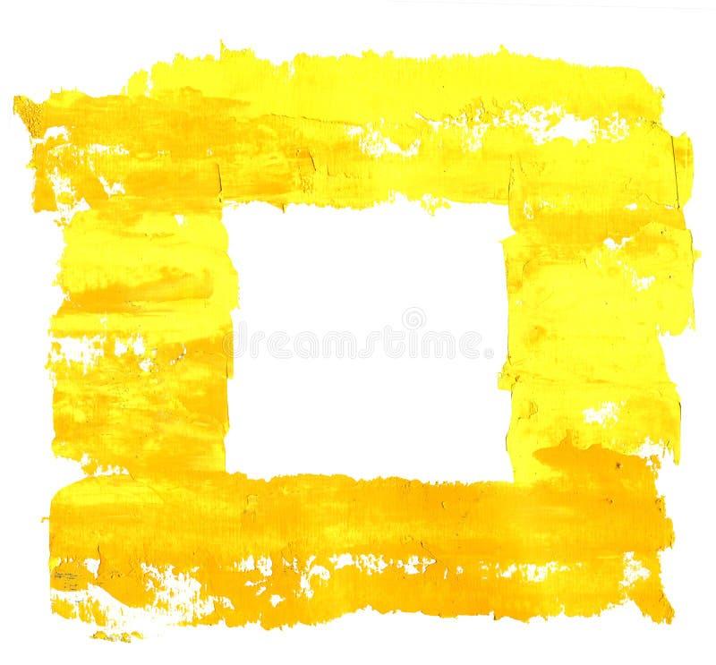 Χρωματισμένο πορτοκαλί και χέρι κίτρινο πλαίσιο πετρελαίου που απομονώνεται στο άσπρο υπόβαθρο στοκ φωτογραφία με δικαίωμα ελεύθερης χρήσης