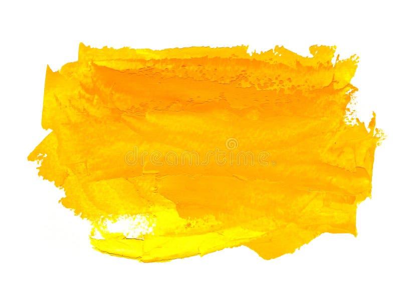 Χρωματισμένο πορτοκαλί και χέρι κίτρινο υπόβαθρο πετρελαίου ελεύθερη απεικόνιση δικαιώματος