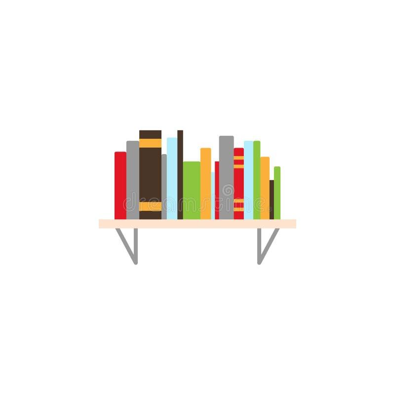 χρωματισμένο ράφι εικονίδιο Στοιχείο του εικονιδίου απεικόνισης εκπαίδευσης r Σημάδια και εικονίδιο συλλογής συμβόλων στοκ εικόνες