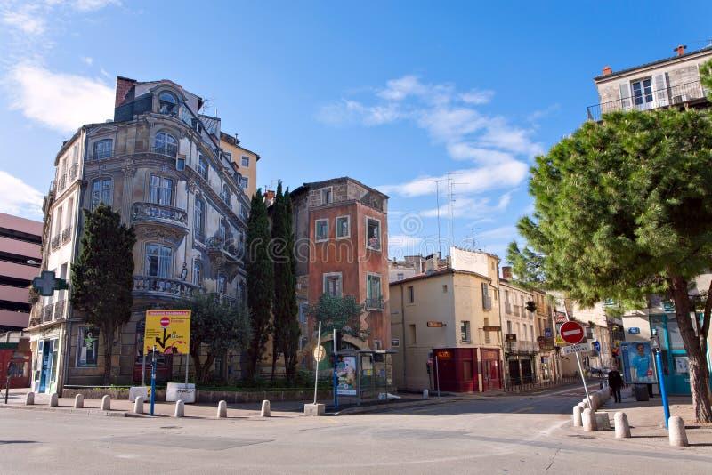 Χρωματισμένο σπίτι στο Μονπελιέ στοκ φωτογραφία με δικαίωμα ελεύθερης χρήσης