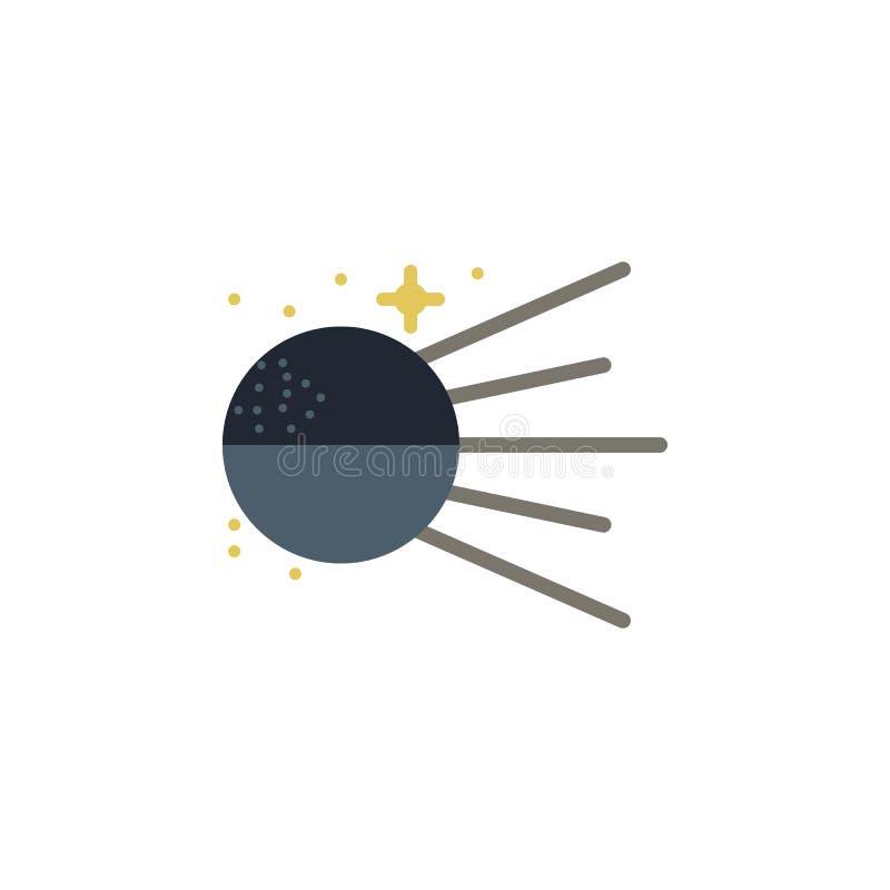 Χρωματισμένο σπούτνικ εικονίδιο Στοιχείο της διαστημικής απεικόνισης Το εικονίδιο σημαδιών και συμβόλων μπορεί να χρησιμοποιηθεί  ελεύθερη απεικόνιση δικαιώματος
