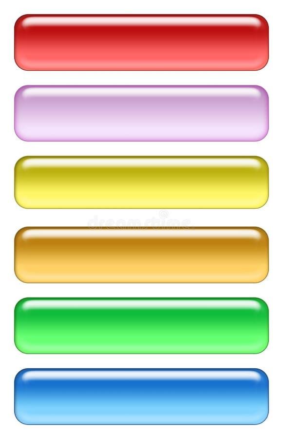 χρωματισμένο σύνολο εικ&omi ελεύθερη απεικόνιση δικαιώματος