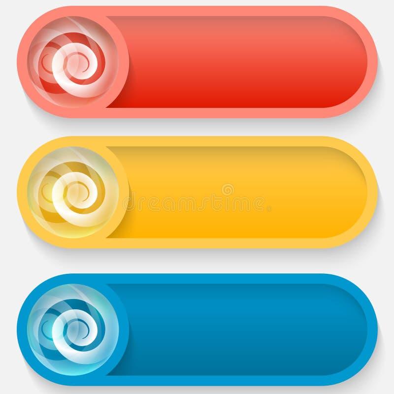 Χρωματισμένο σύνολο διανυσματικό αφηρημένο κουμπί απεικόνιση αποθεμάτων