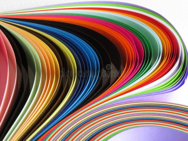 Χρωματισμένο υπόβαθρο λουρίδων εγγράφου στοκ εικόνα