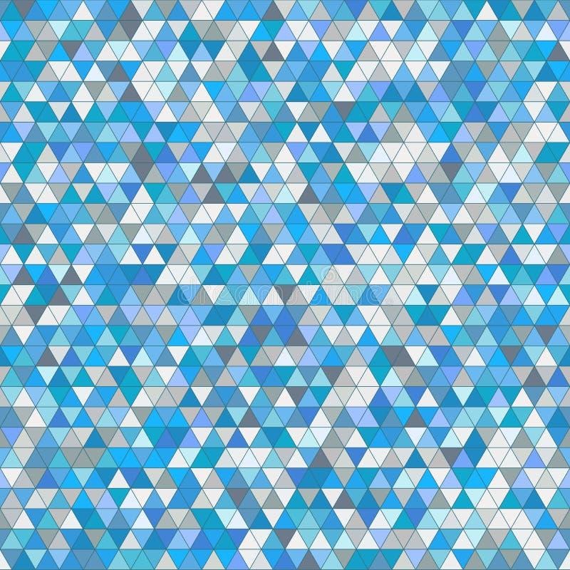 Χρωματισμένο υπόβαθρο σχεδίων τριγώνων άνευ ραφής διανυσματική απεικόνιση