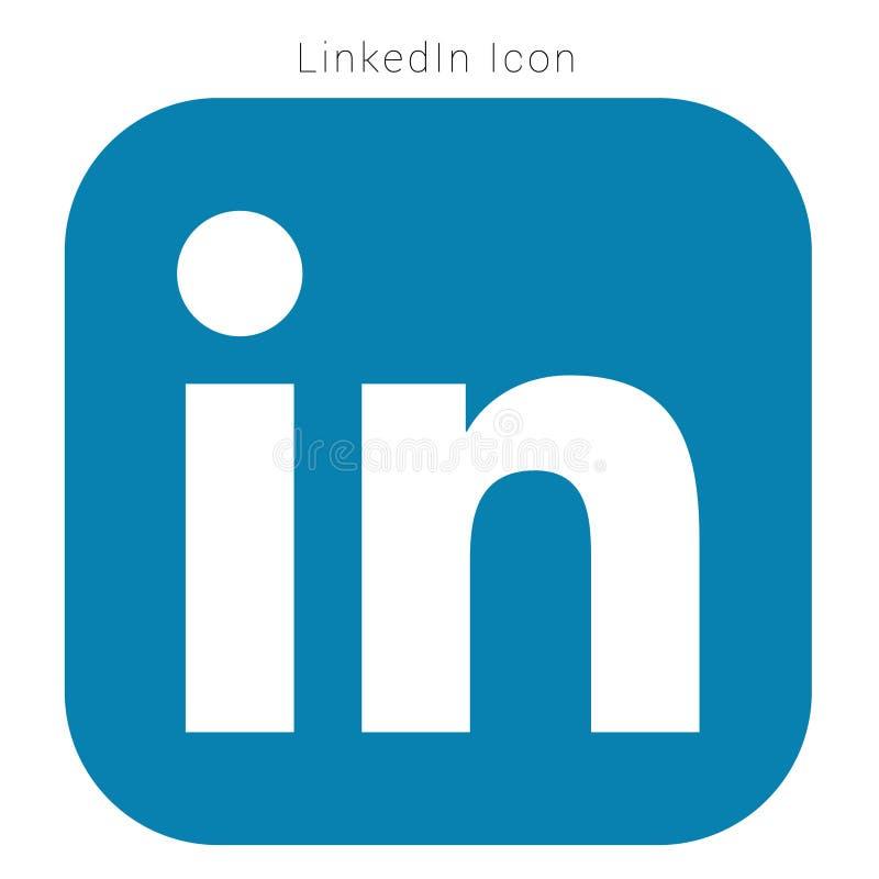 Χρωματισμένο υψηλή ανάλυση λογότυπο LinkedIn με το διανυσματικό αρχείο AI στοκ φωτογραφία