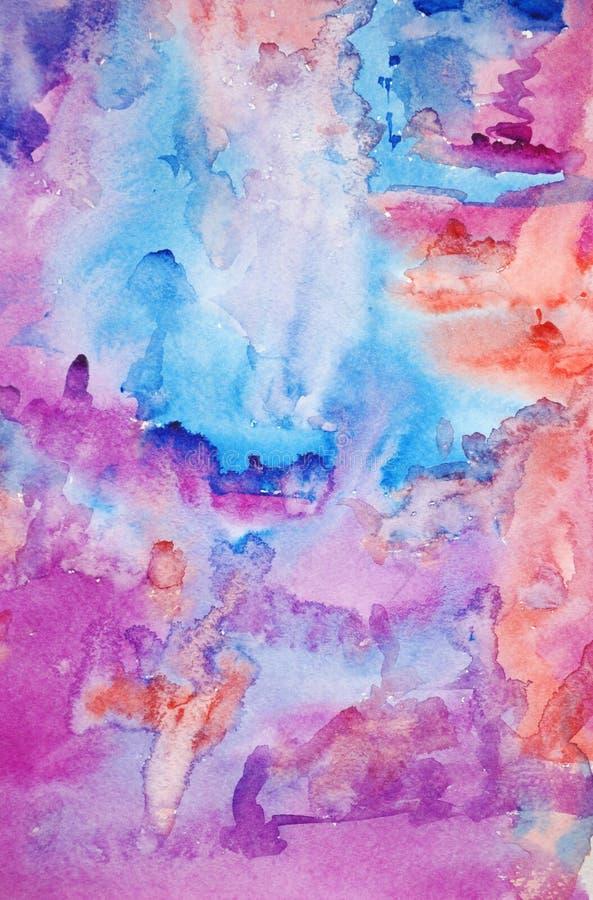 χρωματισμένο χέρι watercolor ανασκόπ στοκ φωτογραφίες με δικαίωμα ελεύθερης χρήσης