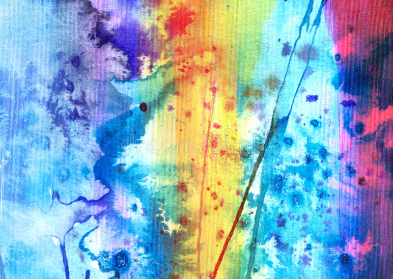 χρωματισμένο χέρι watercolor καμβά απεικόνιση αποθεμάτων