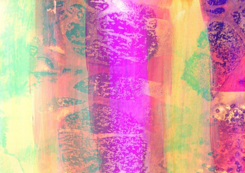 χρωματισμένο χέρι watercolor καμβά διανυσματική απεικόνιση