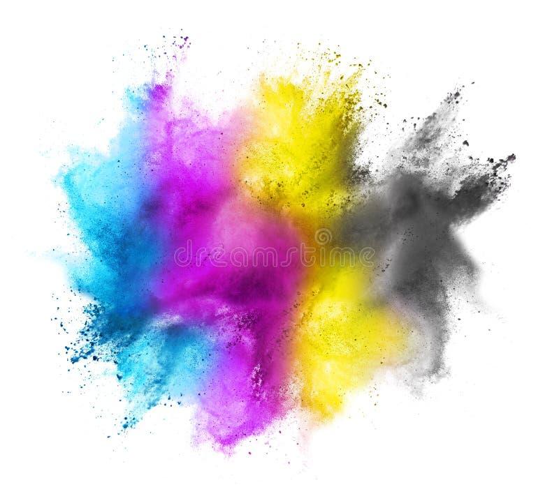 Χρωματισμένο CMYK σύννεφο ελεύθερη απεικόνιση δικαιώματος