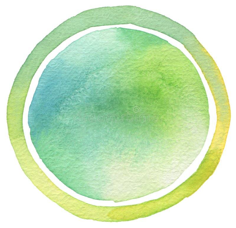 Χρωματισμένο watercolor υπόβαθρο κύκλων διανυσματική απεικόνιση