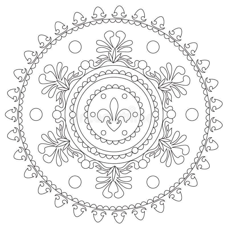 Χρωματισμός εκλεκτής ποιότητας διακοσμητικό Mandala ελεύθερη απεικόνιση δικαιώματος