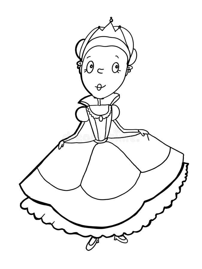Χρωματισμός σχεδίων κινούμενων σχεδίων βασιλιάδων σχεδίων απεικόνισης κάστρων βασίλισσας Princess διανυσματική απεικόνιση