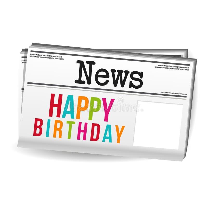 Χρόνια πολλά ειδήσεις περιοδικών εφημερίδων Eps10 διάνυσμα ελεύθερη απεικόνιση δικαιώματος