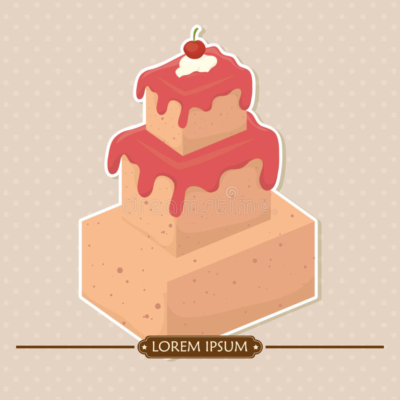 Download Χρόνια πολλά ζωηρόχρωμη κάρτα Διανυσματική απεικόνιση - εικονογραφία από επιδόρπιο, κύβος: 62701915