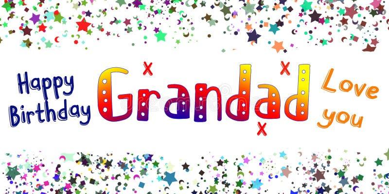 Χρόνια πολλά κάρτα Grandad ελεύθερη απεικόνιση δικαιώματος