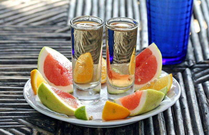Χρόνοι δύο Tequila στοκ εικόνες