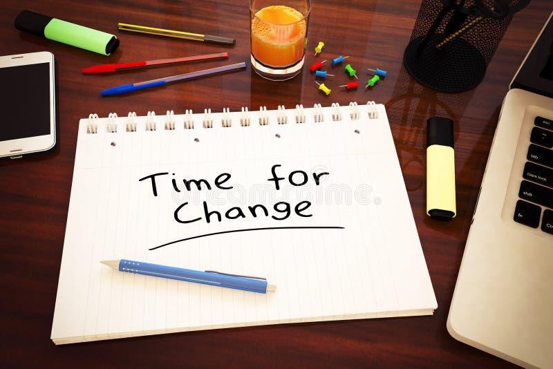 Χρόνος για την αλλαγή διανυσματική απεικόνιση