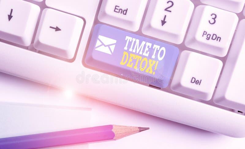 Χρόνος για την αποτοξίνωση κειμένου κατά τη γραφή του Word Επιχειρηματική ιδέα για τον καθαρισμό του σώματος των τοξινών σας ή τη στοκ εικόνες