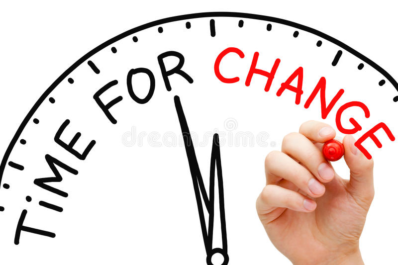 Χρόνος για την αλλαγή στοκ εικόνες με δικαίωμα ελεύθερης χρήσης