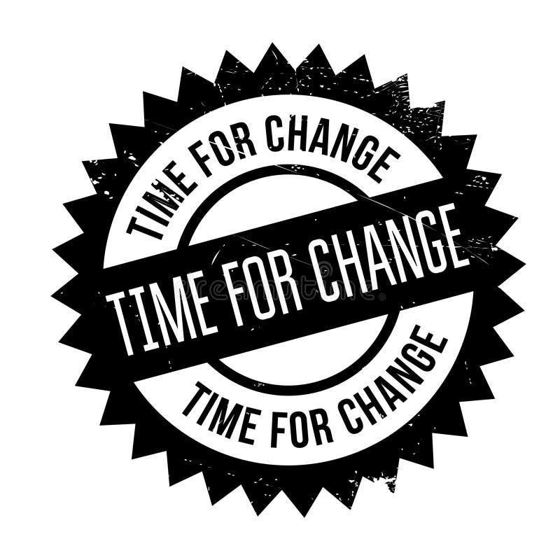 Χρόνος για το γραμματόσημο αλλαγής ελεύθερη απεικόνιση δικαιώματος
