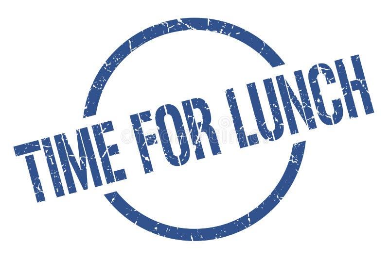 Χρόνος για το γραμματόσημο μεσημεριανού γεύματος απεικόνιση αποθεμάτων