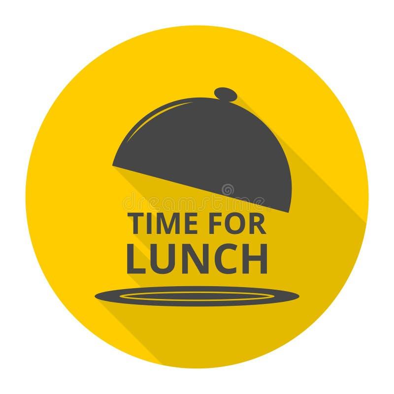 Χρόνος για το εικονίδιο μεσημεριανού γεύματος απεικόνιση αποθεμάτων