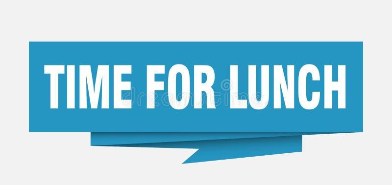 Χρόνος για το μεσημεριανό γεύμα διανυσματική απεικόνιση