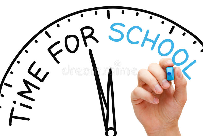 Χρόνος για το σχολείο στοκ εικόνα με δικαίωμα ελεύθερης χρήσης