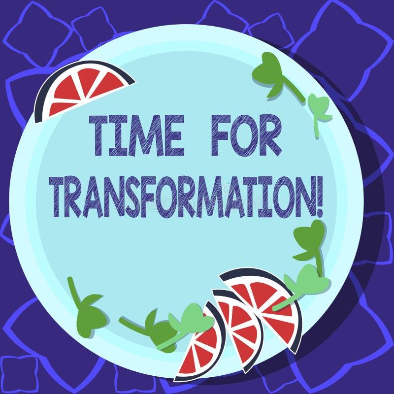 Χρόνος γραψίματος κειμένων γραφής για το μετασχηματισμό Έννοια που σημαίνει τη φάση για τη δραματική αλλαγή στη μορφή ή την εμφάν διανυσματική απεικόνιση