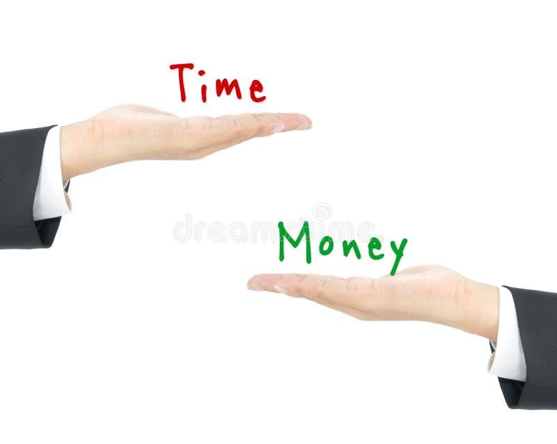 Χρόνος εναντίον των χρημάτων στοκ εικόνες με δικαίωμα ελεύθερης χρήσης