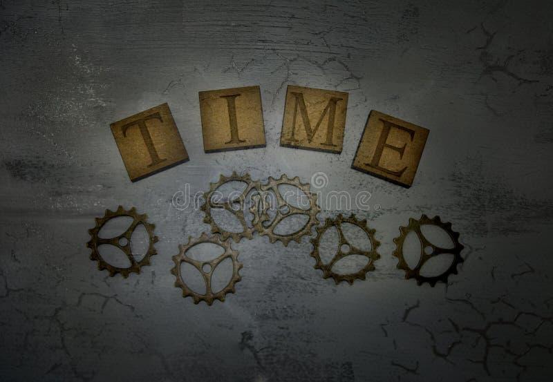 Χρόνος και βαραίνω λέξης στοκ φωτογραφίες