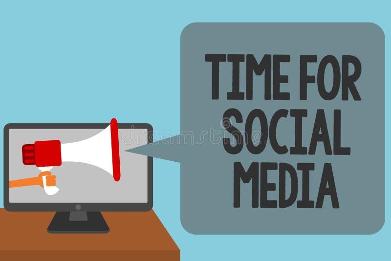 Χρόνος κειμένων γραψίματος λέξης για τα κοινωνικά μέσα Επιχειρησιακή έννοια για τη συνάντηση των νέων φίλων που συζητούν τις ειδή διανυσματική απεικόνιση