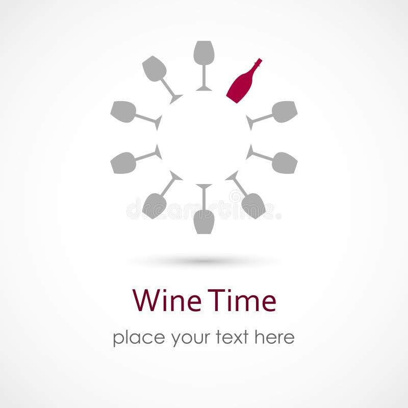 Χρόνος κρασιού απεικόνιση αποθεμάτων