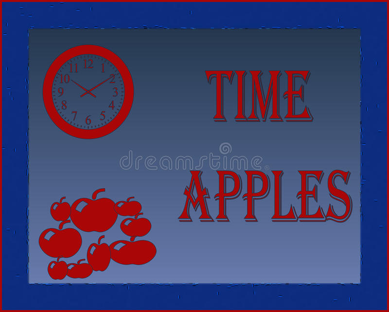 χρόνος μήλων στοκ εικόνες