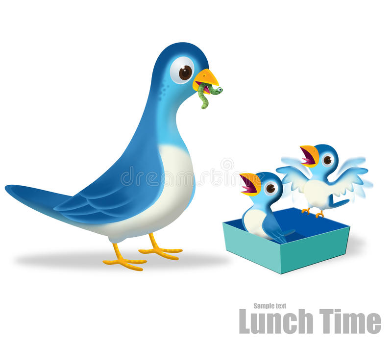 χρόνος μεσημεριανού γεύμ&alph διανυσματική απεικόνιση