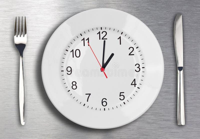 χρόνος μεσημεριανού γεύμ&alph στοκ εικόνες