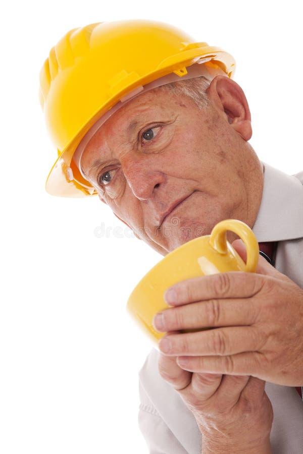 Χρόνος μηχανικών για τον καφέ στοκ φωτογραφία