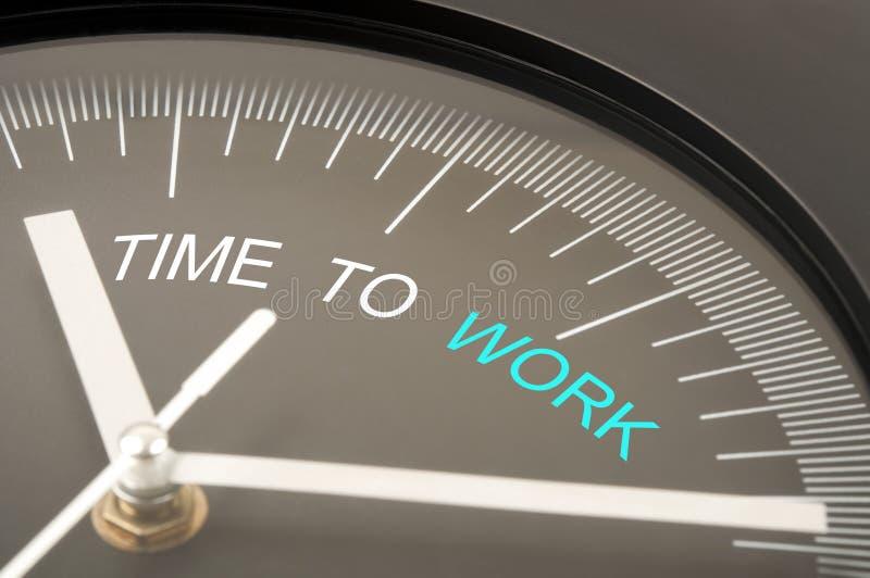 χρόνος να εργαστεί στοκ εικόνα με δικαίωμα ελεύθερης χρήσης