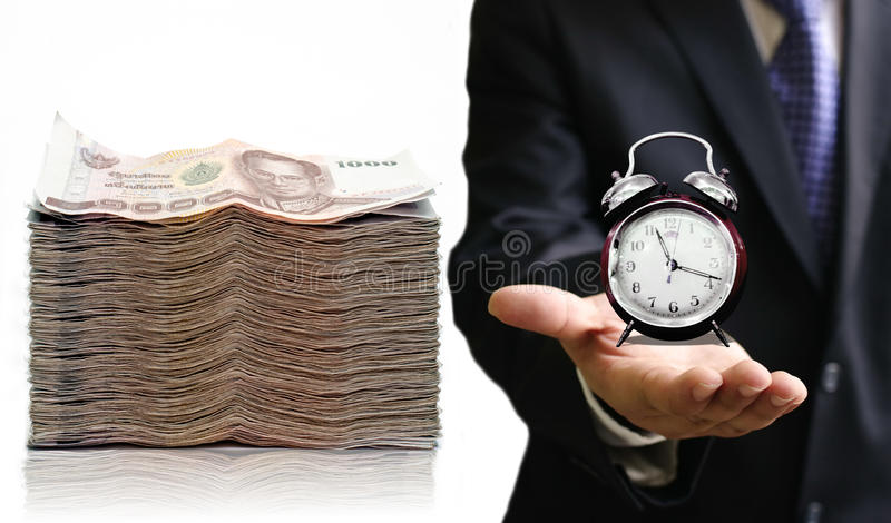 Χρόνος να κερδηθούν χρήματά σας στοκ εικόνες με δικαίωμα ελεύθερης χρήσης