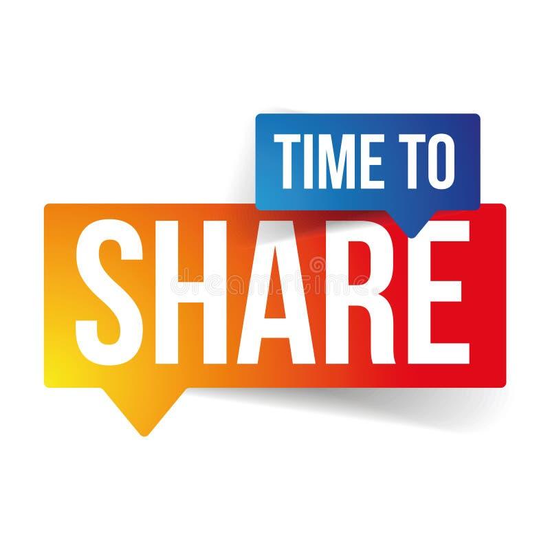 Χρόνος να μοιραστεί το διάνυσμα σημαδιών ελεύθερη απεικόνιση δικαιώματος