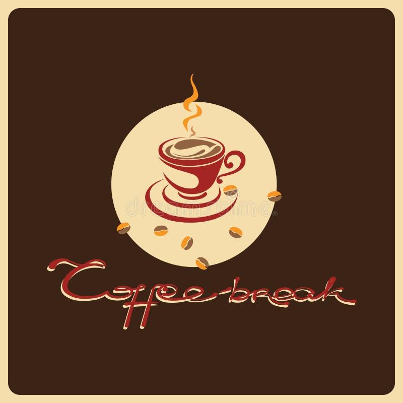 Χρόνος να πιωθεί ο καφές διανυσματική απεικόνιση