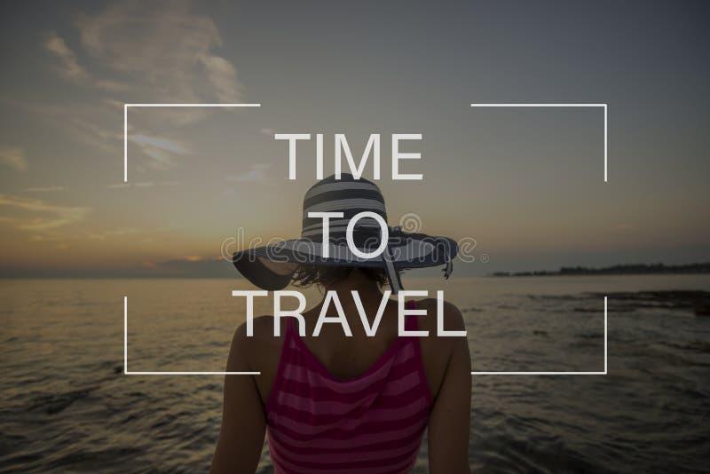 Χρόνος να ταξιδεφθεί το σημάδι στοκ φωτογραφία με δικαίωμα ελεύθερης χρήσης