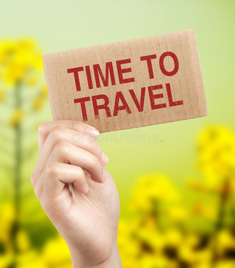 χρόνος να ταξιδεψει στοκ φωτογραφία