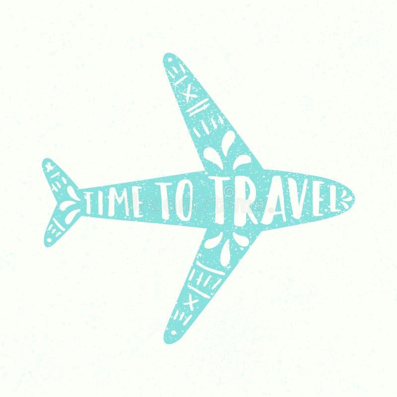 χρόνος να ταξιδεψει διανυσματική απεικόνιση