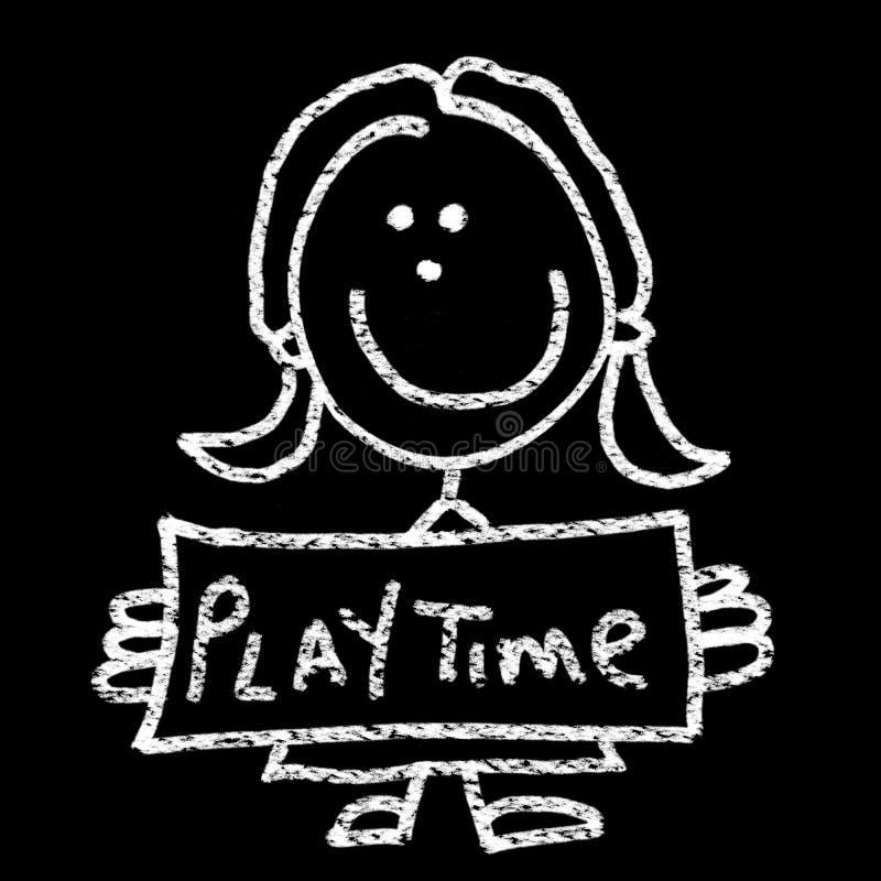 χρόνος παιχνιδιού ελεύθερη απεικόνιση δικαιώματος