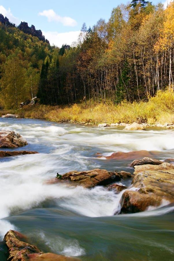 χρόνος ποταμών τοπίων φθιν&omicron στοκ εικόνες με δικαίωμα ελεύθερης χρήσης