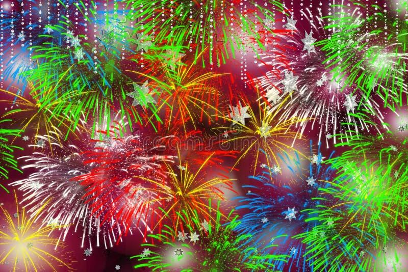 χρόνος πυροτεχνημάτων Χρι&sig στοκ εικόνες με δικαίωμα ελεύθερης χρήσης