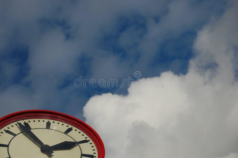 χρόνος ρολογιών ακριβώς στοκ εικόνα